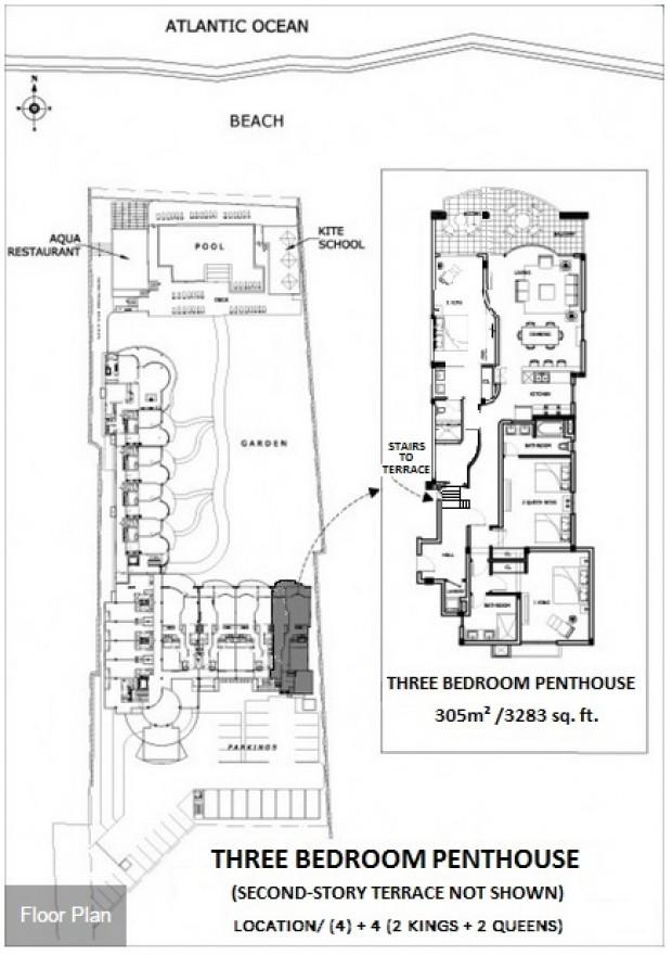 Millennium cabarete 3 bedroom penthouse - Lay outs penthouse ...