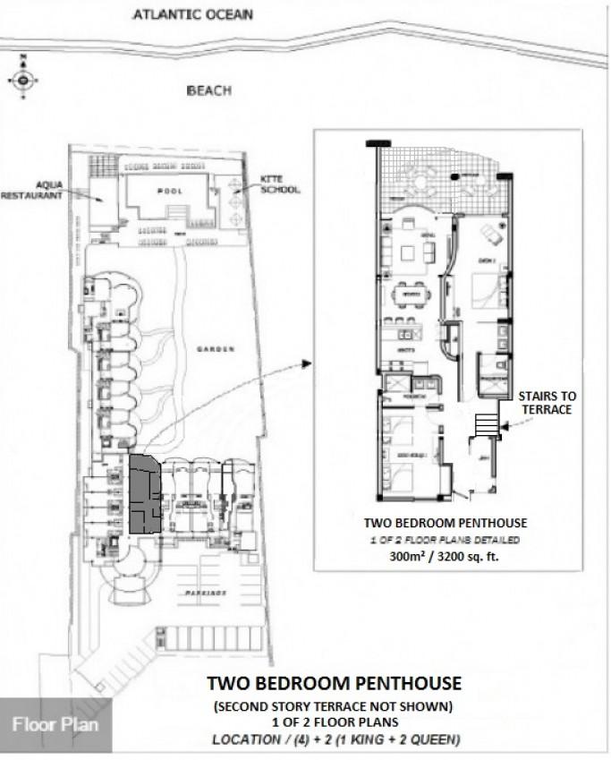 Millennium cabarete 2 bedroom penthouse - Lay outs penthouse ...